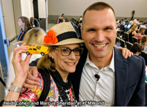 Heidi Cohen and Marcus Sheridan -Only Conference Advice You Need
