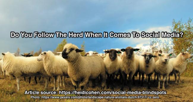 Social media blindspot