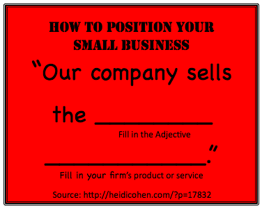 How to Position Your Small Business - HeidiCohen Actionable Marketing Blog