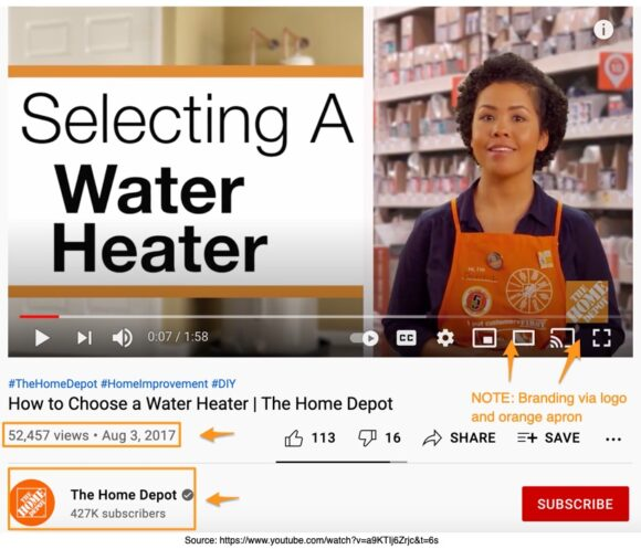Home Depot –Selecting a Water Heater
