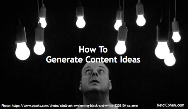 content idea generation