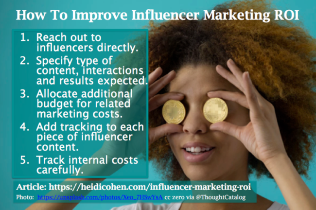 InfluencerMarketing ROI - 5 steps to improve your resultes
