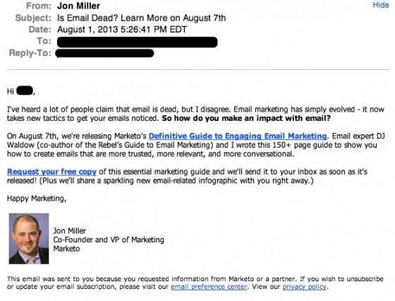 Jon Miller email-Marketo Email Guide