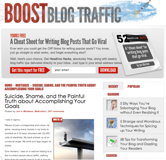 Jon Morrow Boost Blog Traffic e1360820285424 14 Social Media Blogs You Should Love