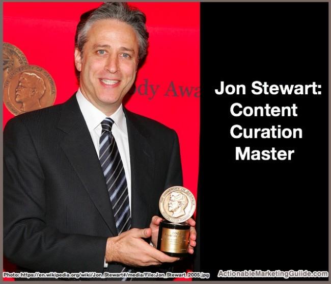 Jon Stewart 2005-Content Curation master