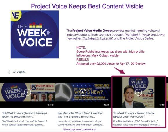 Project Voice keeps best content visible