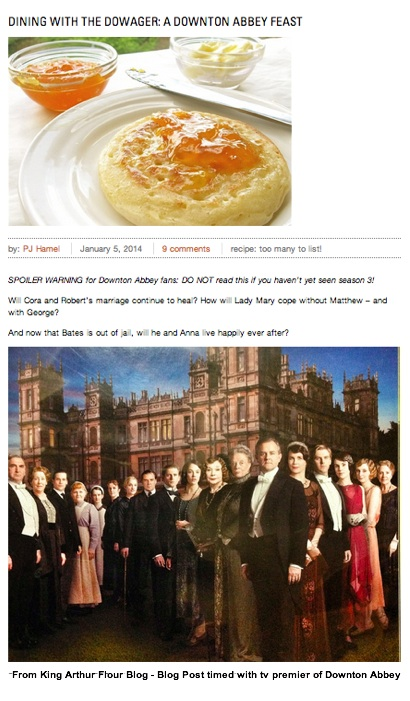 King Arthur Flour - Downton Abbey Recipes