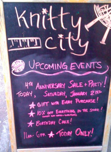 Knitty City - 4th Anniversary-Heidi Cohen