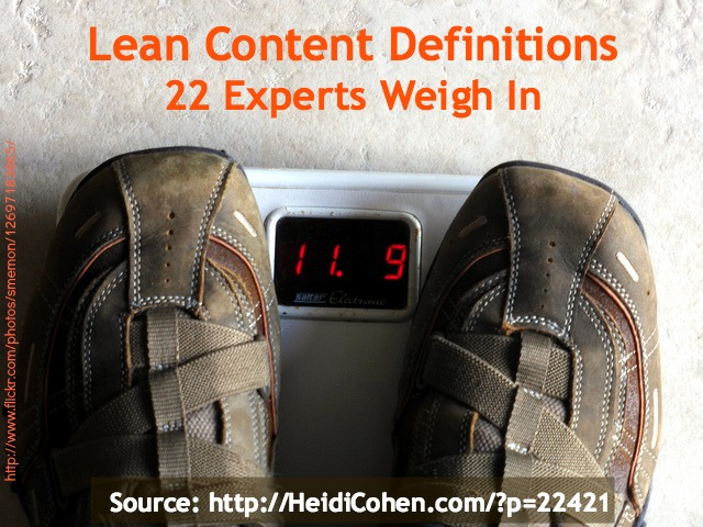 Lean Content Definition Roundup