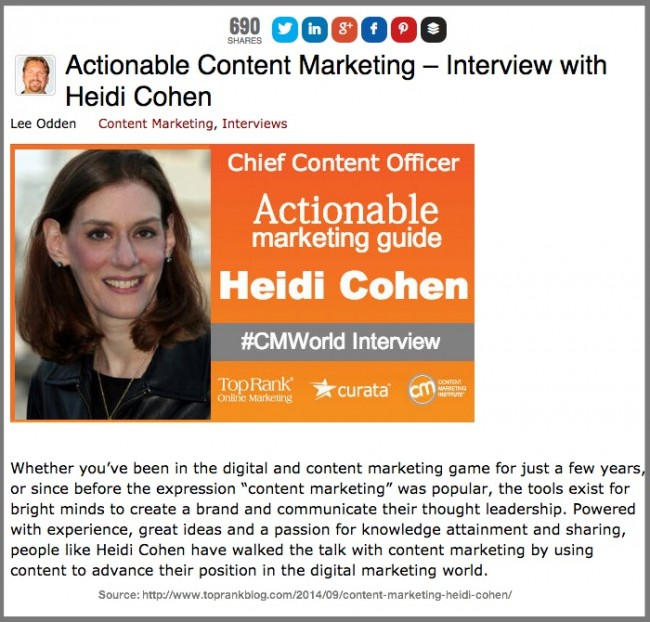 Lee Odden Interview with Heidi Cohen