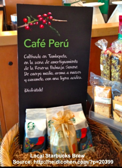 Local Starbucks Brew - Lima Peru-Heidi Cohen