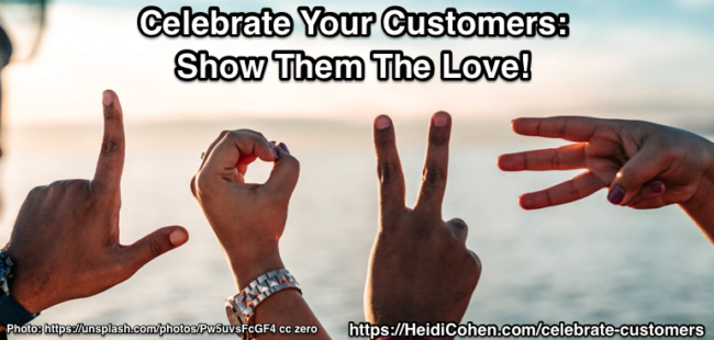 celebrate customers