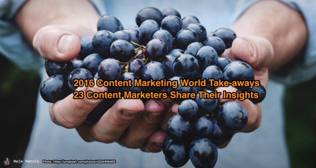 Content Marketing World Take-aways