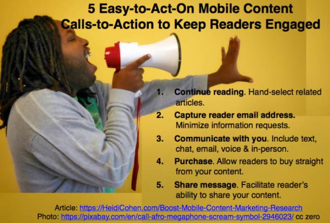 Mobile Content Marketing Calls-to-Action