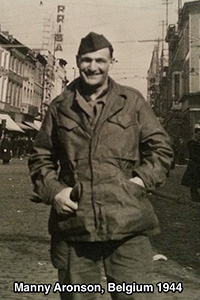 Manny Aronson in WWII