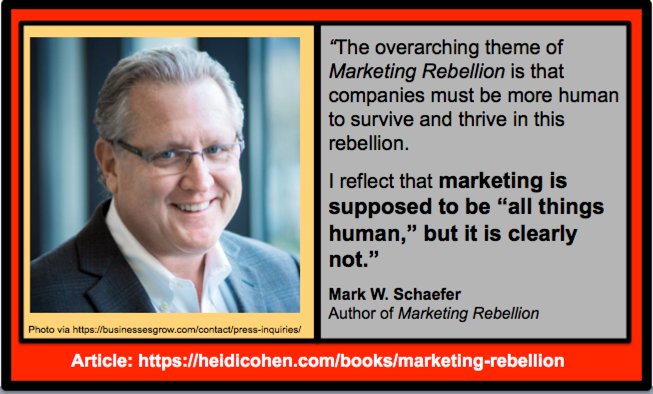Mark Schaefer quote from Marketing Rebellion