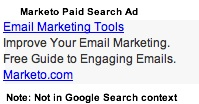 Marketo Paid Search Ad