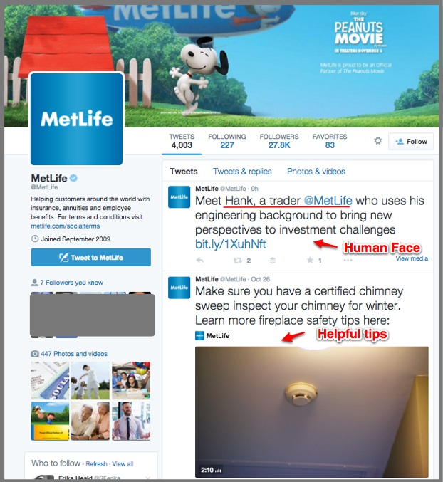MetLife Is helpful and human on Twitter
