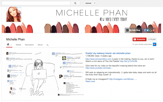Michelle Phan's make up tutorials built a community and a brand