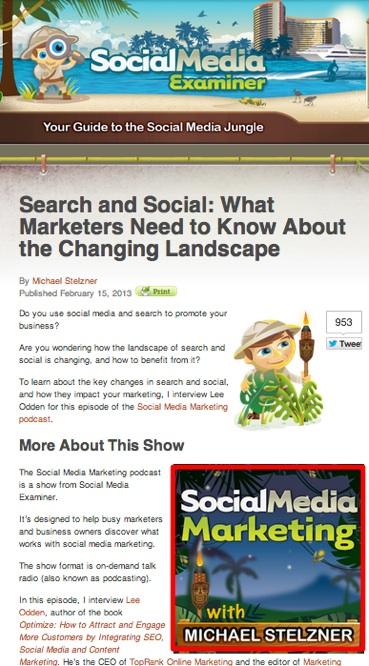Mike Stelzner Podcast- Social Media Examiner
