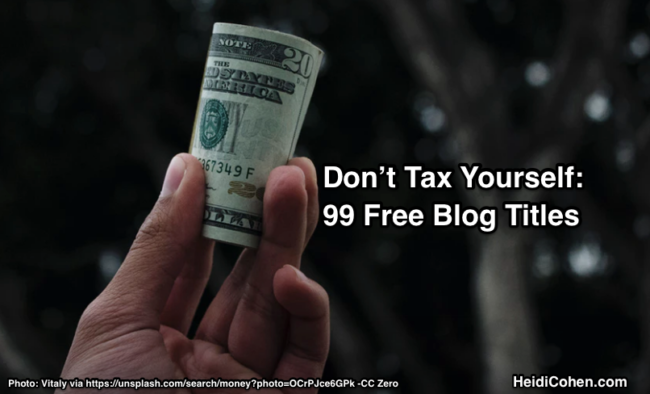 99 Free Blog Titles