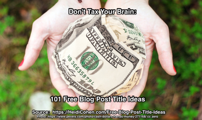 Free Blog Post Title Ideas
