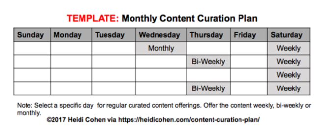 Monthly Content Curration
