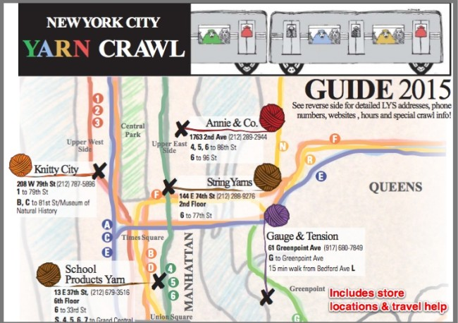 Small Business Example: NYC Yarn Crawl Map