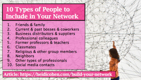 10 types of people to include in your network