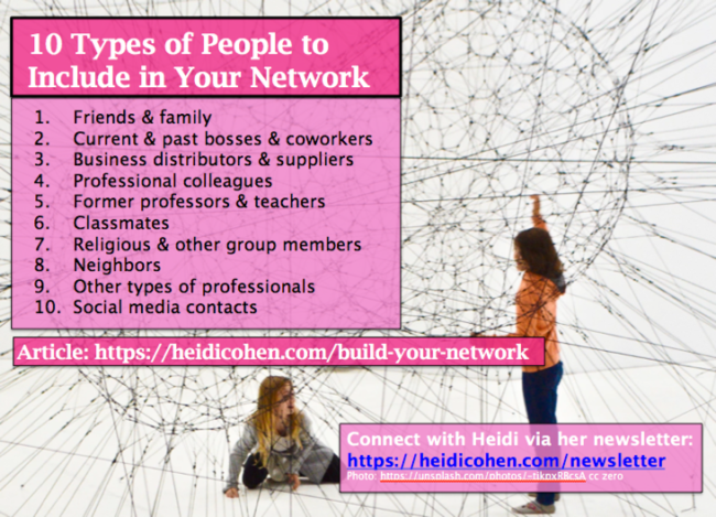 how to build your network - 10 types of people you need