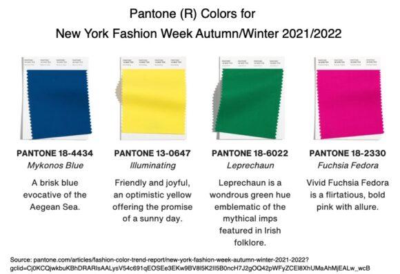 Pantone® Colors for New York Fashion Week