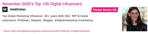 Top 100 Digital Influencers