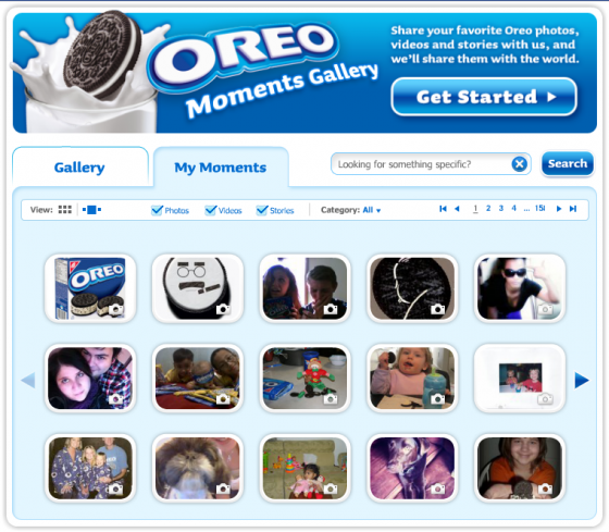 Oreo Moments Gallery on Facebook