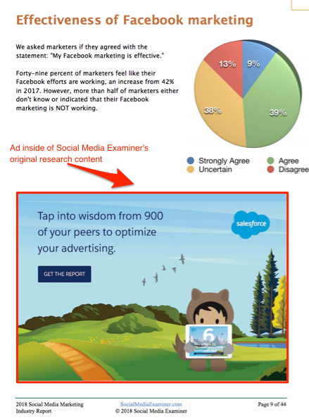 Original Research Content - Advertising Example