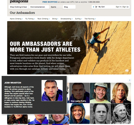 Patagonia Ambassadors - Photo Bios