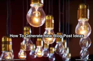Generate new blog post ideas