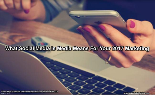 Social media is media