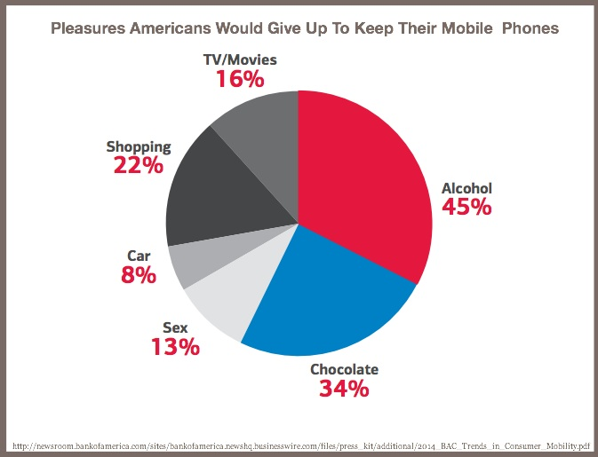 Pleasures Americans Would Give Up To Keep Their Mobile Phones-BankAmerica-2014