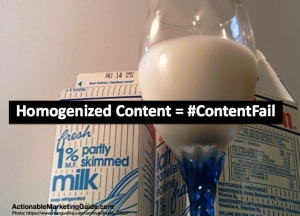 Homogenized Content is a content fail