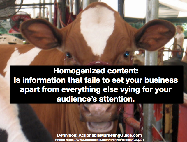 Not Straight From the Cow-Homogenized Content Defined
