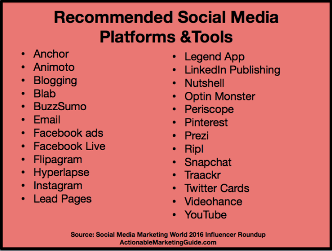 Social Media Marketing World Influencer Roundup - Tools and Platforms