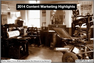 2014 content marketing highlights