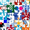 Puzzle Social Network Icons Daddy Design