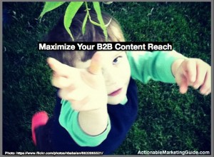 Social media for B2B content marketing distribution