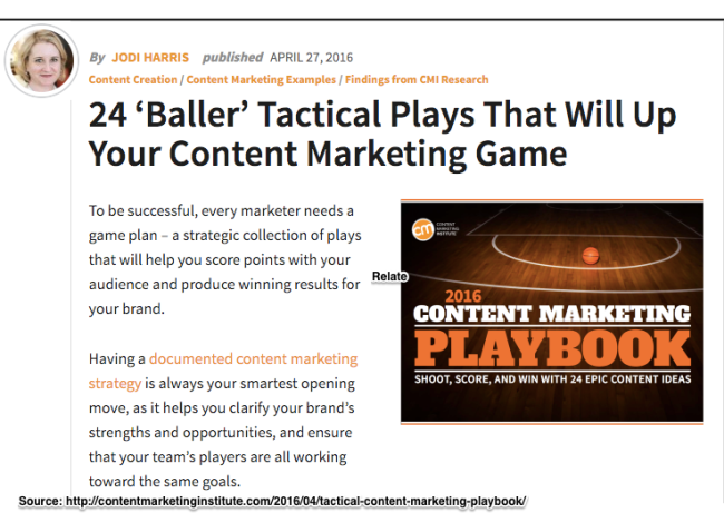 24 'Baller' tactical plays that will up your content marketing game