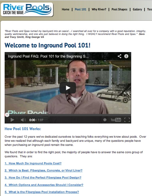 River Pools and Spas Answers Customer Questions