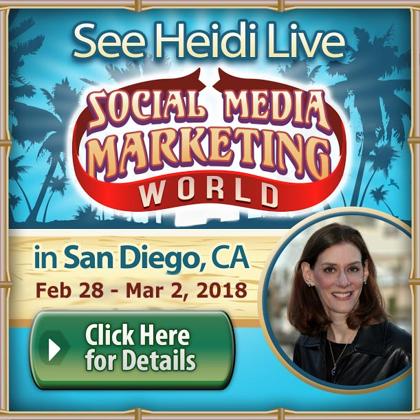 See Heidi at Social Media Marketing World