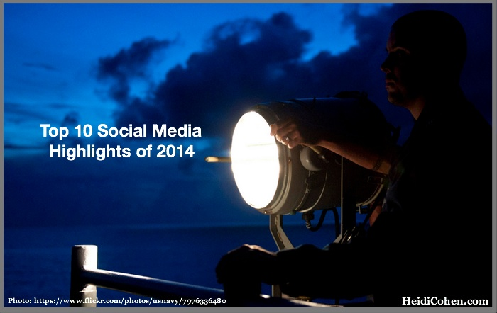Top 10 social media highlights of 2014