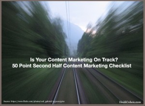 Second Half Content Marketing Checklist