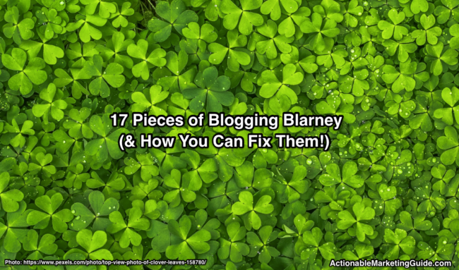 Blogging Blarney